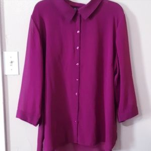 💜Sheer Purple Button Up💜